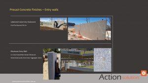 Action Solution Precast Concrete Finishing Options